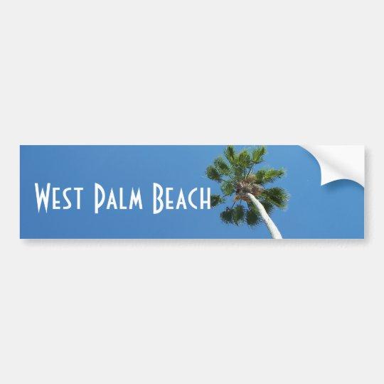 West Palm Beach Florida Palm Tree Bumper Sticker