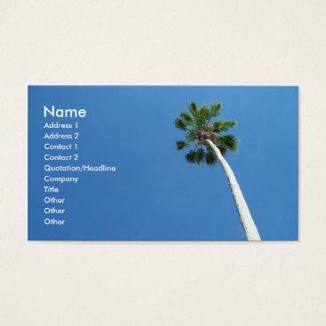 Professional Business West Palm Beach Florida Palm Tree Business Card