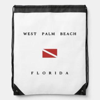 West Palm Beach Florida Scuba Dive Flag Cinch Bags