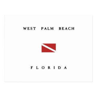 West Palm Beach Florida Scuba Dive Flag Postcard
