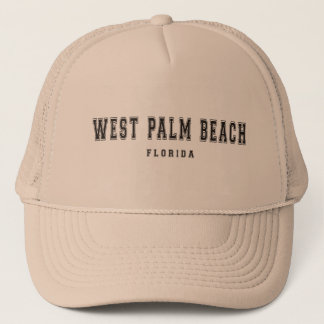 West Palm Beach Florida Trucker Hat