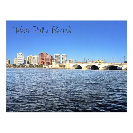 West Palm Beach, Florida, U.S.A. Postcard
