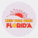 West Palm Beach, la Florida Etiqueta