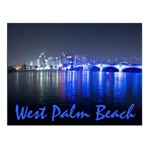 West Palm Beach, la Florida, reflexiones en la osc Tarjeta Postal