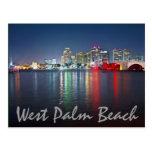 West Palm Beach, la Florida, reflexiones en la Tarjeta Postal