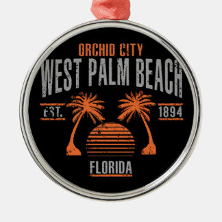West Palm Beach Metal Ornament