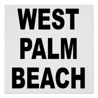 West Palm Beach Poster