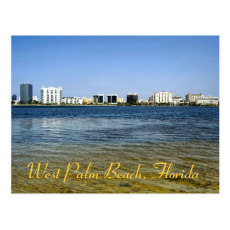 West Palm Beach reflections from Clear Lake Postcard