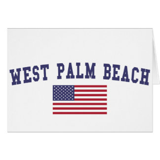 West Palm Beach US Flag Card