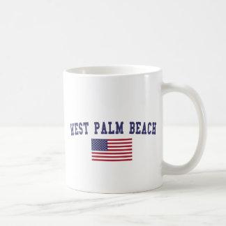 West Palm Beach US Flag Coffee Mug