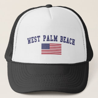 West Palm Beach US Flag Trucker Hat