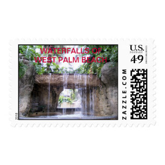 West Palm Beach Waterfall Postage