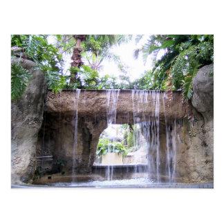 West Palm Beach Waterfall Postcard