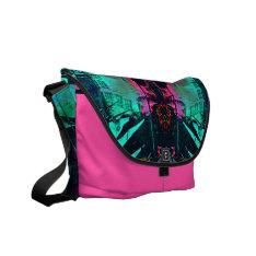West Palm Pink Messenger Bag at Zazzle