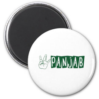 West Panjab 2 Inch Round Magnet