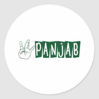 West Panjab Classic Round Sticker