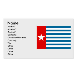 West Papua, Indonesia Business Card