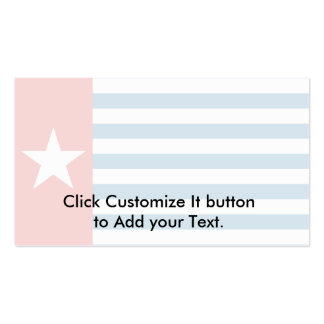 West Papua, Indonesia flag Business Card Template