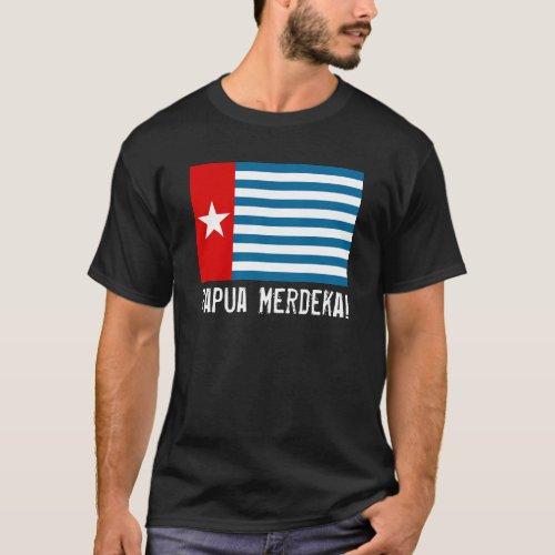 West Papua Merdeka Morning Star Flag T_Shirt