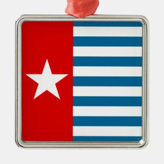 west papua metal ornament