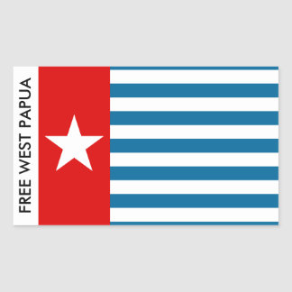 west papua rectangular sticker