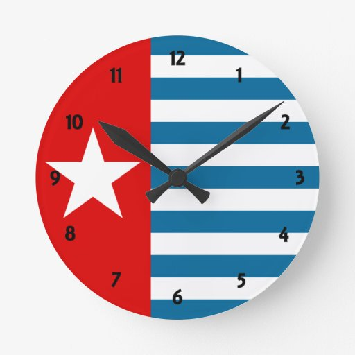 west papua round wall clock