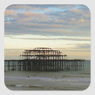 West Pier Brighton Square Sticker