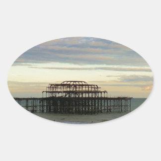 West Pier Brighton Oval Sticker