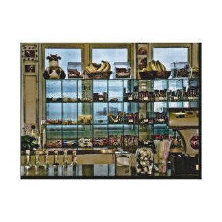 West Pier through Sweetshop, Brighton Stretched Canvas Prints