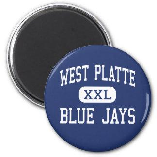 West Platte - Blue Jays - High - Weston Missouri 2 Inch Round Magnet