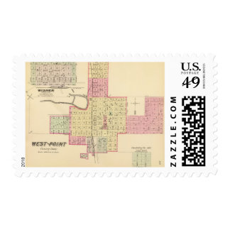 West Point and Wisner, Nebraska Postage