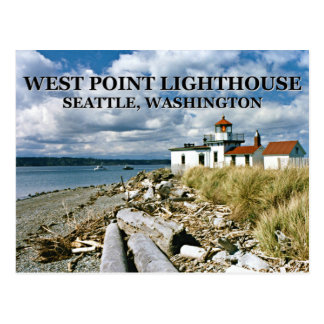 West Point Lighthouse, Seattle Washington Postcard