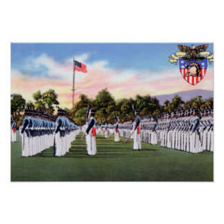 West Point New York Dress Parade Military Academy Poster