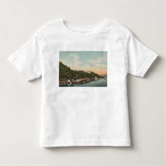 West Point, NY - View of Harbor on Hudson River T-shirt