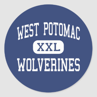 West Potomac - Wolverines - High - Alexandria Classic Round Sticker