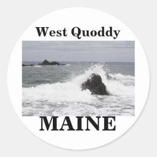 West Quoddy Classic Round Sticker