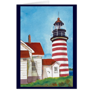 West Quoddy Head Light House Card