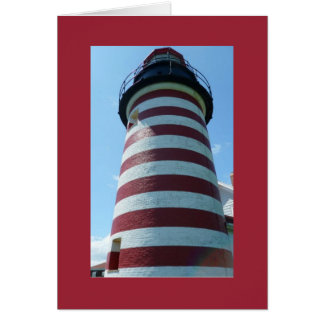 West Quoddy Head Light, Maine Notecard Cards