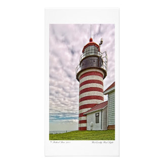 West Quoddy Head Light Photocard Card