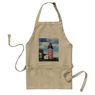 West Quoddy Head Lighthouse Adult Apron