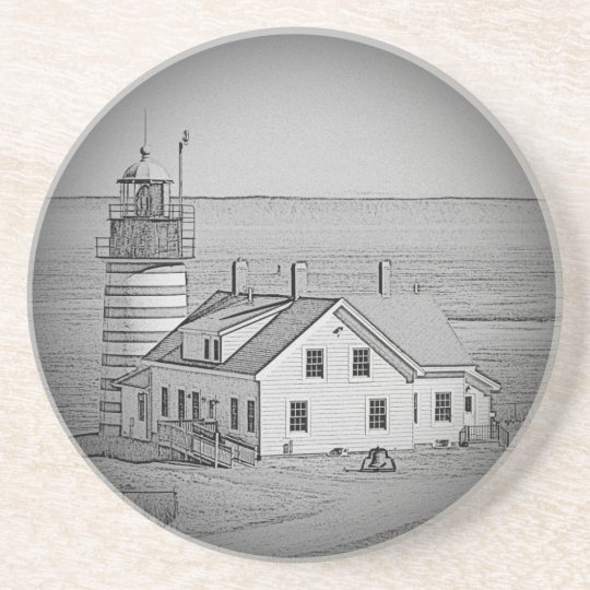 West Quoddy Head Lighthouse Drink Coaster