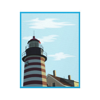 West Quoddy Head Lighthouse - Lubec, Maine Canvas Print