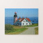 "West Quoddy Head Lighthouse, Lubec Maine Jigsaw Puzzle<br><div class=""desc"">West Quoddy Head Lighthouse,  Lubec Maine</div>"