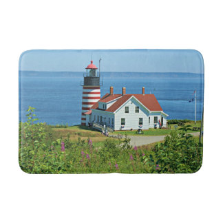 West Quoddy Head Lighthouse, Maine Bath Mat