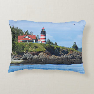 West Quoddy Head Lighthouse, Maine Decorative Pillow