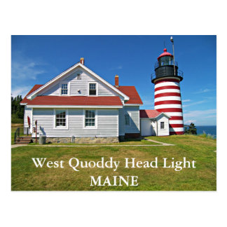 West Quoddy Head Lighthouse, Maine Postcard