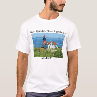 West Quoddy Head Lighthouse, Maine T-Shirt