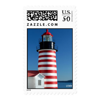West Quoddy Head Lighthouse - Postage Stamp