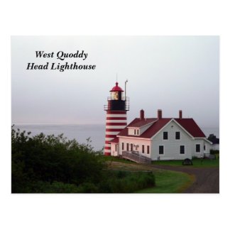 West Quoddy Head Lighthouse Postcard