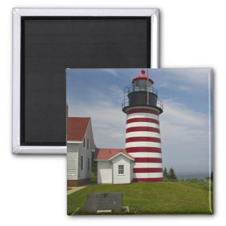 West Quoddy Head Lighthouse State Park is the 2 Inch Square Magnet